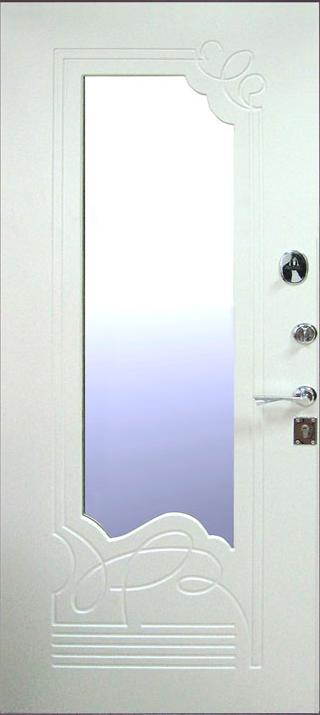 купить железные двери с зеркалом внутри